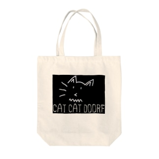 CAT CAT DOOR+F Tote bags