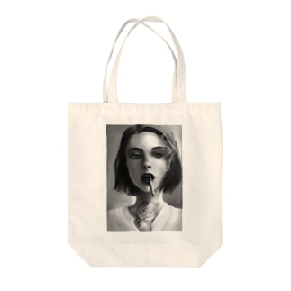 Freckle girl smokes Tote bags