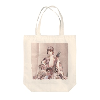 CG絵画:エレキギターを持つ美少女 CG art: Kimono girl with an electric guitar Tote bags