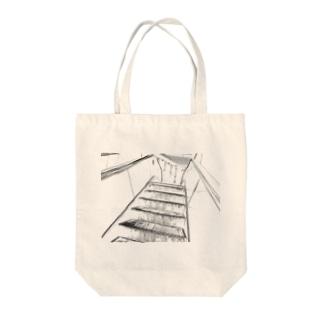 エスカレーター Tote bags