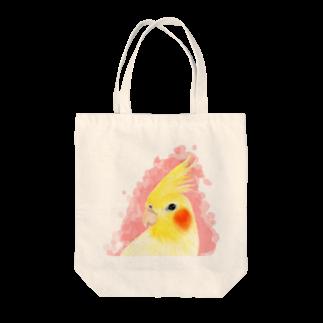 まめるりはことりのオカメインコ ルチノー【まめるりはことり】 Tote bags