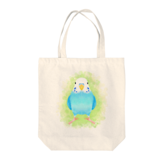 まめるりはことりのセキセイインコ ブルー【まめるりはことり】 Tote bags