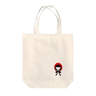 かぶりものシリーズ:赤ずきんちゃん Tote bags