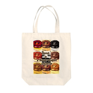 Donut in a donut-shaped universe Tote bags