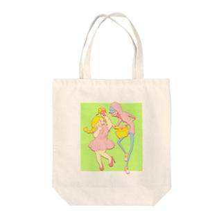 メタボリ子と先輩 Tote bags