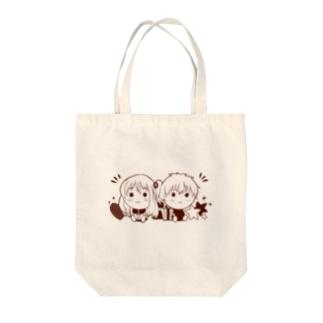halufactoryチビキャラ Tote bags