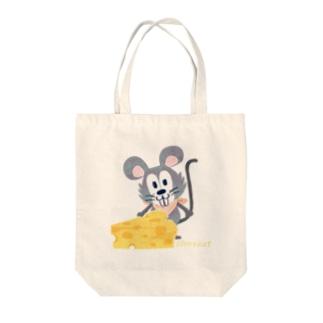 チーズはここに!いろいろA Tote bags
