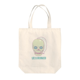 Life is overrated Tote bags