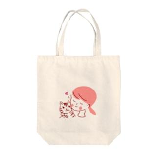 にゃんこ大好き Tote bags