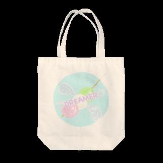 perapo❷@指描きグッズ販売の三色だんごドリーマー フチあり Tote bags