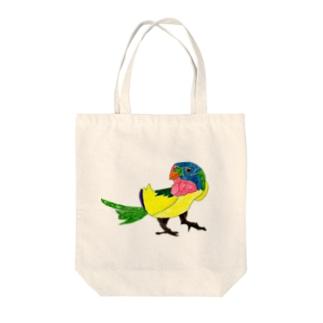 smilebaseのいろ鳥どり Tote bags