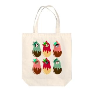 イチゴ猫ちゃんず🍓 Tote bags