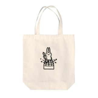 ウサギの囲碁 トートバッグ