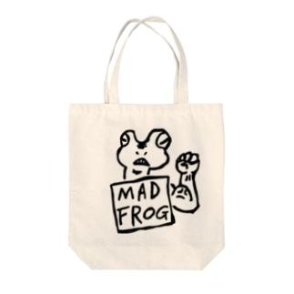怒れるカエル マッドフロッグ Tote bags