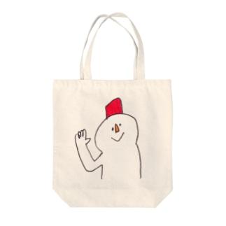 雪だるさん Tote bags