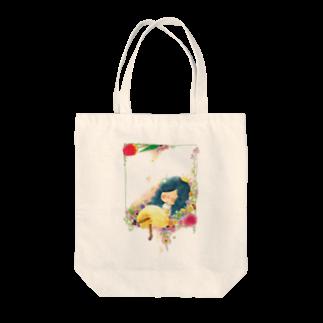 ちび子★キエの花籠 トートバッグ