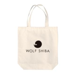 【柴犬のしっぽ】WOLFSHIBAロゴ Tote bags