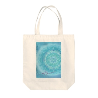 blue in blue  Tote bags