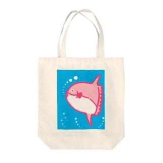 ピンクマンボウ Tote bags