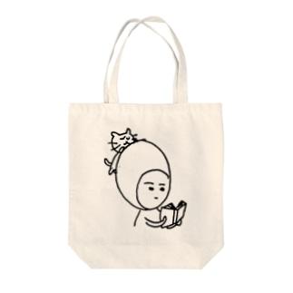 煮玉子の読書 Tote bags