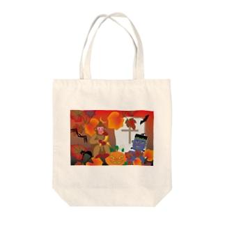 モンキー・オータム・グッズ Tote bags