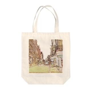 CG絵画:ブリュージュの風景 CG art: Bruges Tote bags