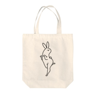美脚うさぎ Tote bags