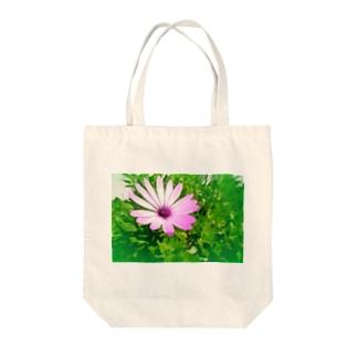 ポッと咲いていたディモルフォセカ Tote bags