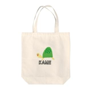 カメ子さん Tote bags