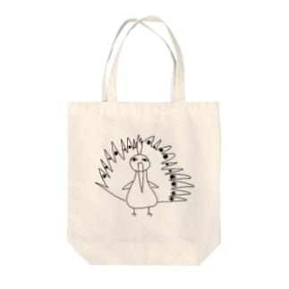 孔雀 Tote bags