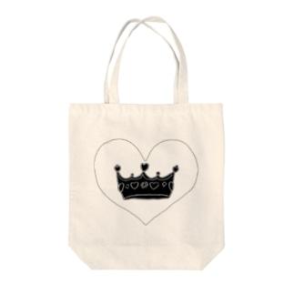 王冠👑ブラックver Tote bags