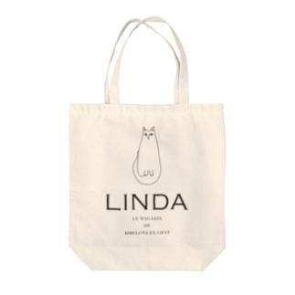 """ネコ """"LINDA"""" Tote bags"""