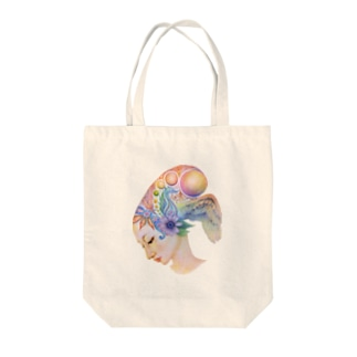 aya-coloured Tote bags
