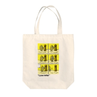 """タダユキヒロ""""Love letter"""" post Tote bags"""