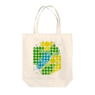 ブラジルカラー水玉 トートバッグ