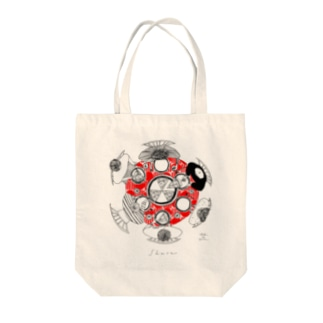 share(red) Tote bags