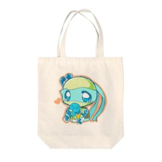 レオちゃん(withうみ●ん) Tote bags