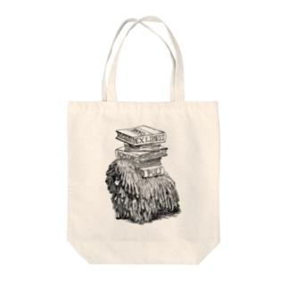 プーリー蔵書票 Tote bags