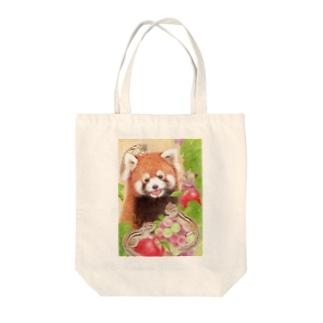レッサーパンダとシマリス Tote Bag