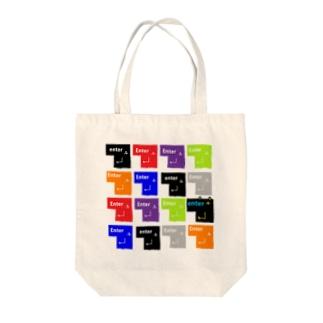 (・Σ・)のエンターキー Tote bags