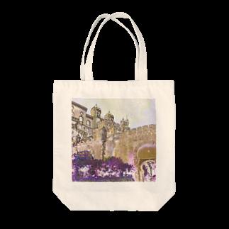 FUCHSGOLDのCG絵画:ぺーナ宮殿の風景画 CG art: Palácio Nacional da Pena / Portugal Tote bags