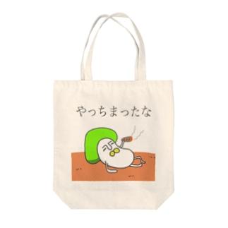 毒きのこ Tote bags