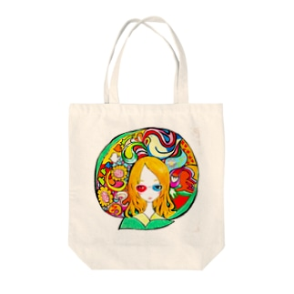 3Dメガネさん Tote bags