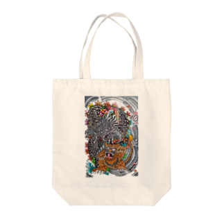 🔥Ryuu🔥絵描き師🔥依頼はDMください😄の龍と虎 Tote bags