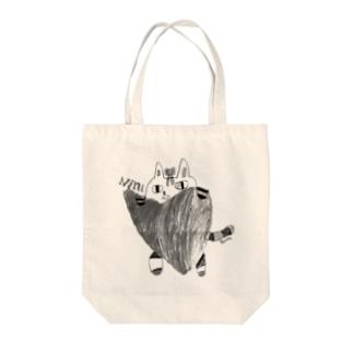 猫のニニ Tote bags