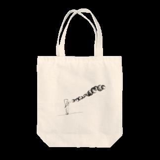 テゾーロショップのシャボン玉をする少女 Tote bags