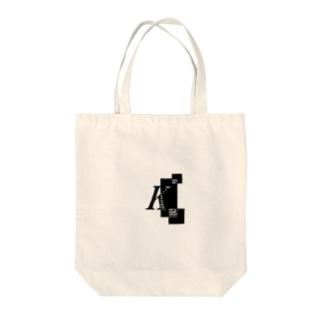シンプルデザインアルファベットKワンポイント Tote bags