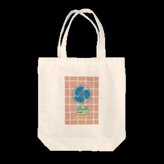 オイカワの絵の昭和の扇風機 レトロシリーズ Tote bags