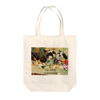 TEA PARTY Tote bags