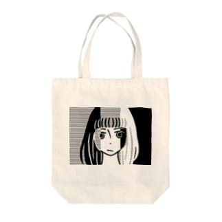 三重人格ちゃん Tote bags